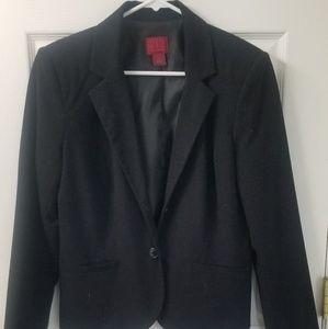 212 Womens Black Lined Suit Jacket Blazer-Sz. 14